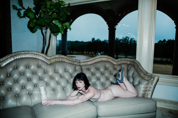 Stoya on sofa Image 2