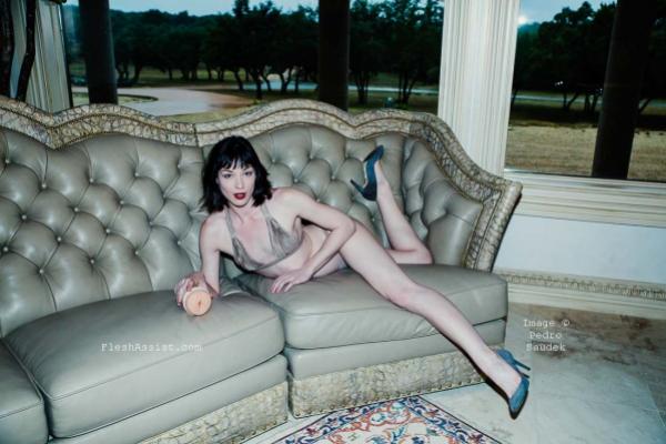 Stoya on sofa Image 3