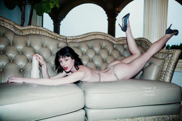Stoya on sofa Image 6