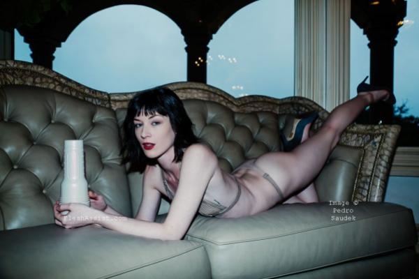 Stoya on sofa Image 7