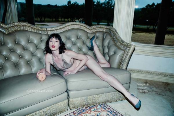 Stoya on sofa Image 9