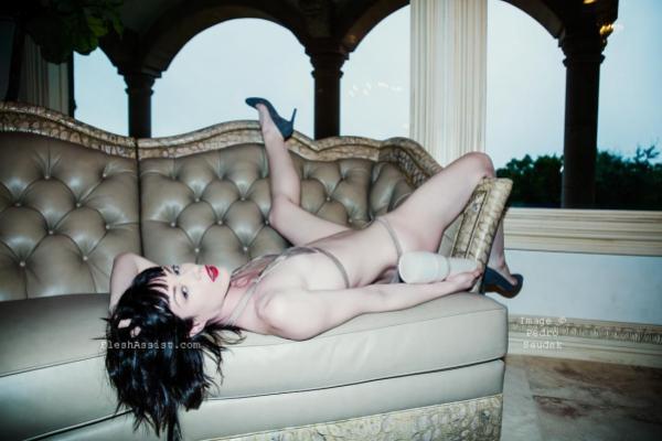Stoya on sofa Image 10